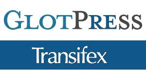 GlotPress ja Transifex logot