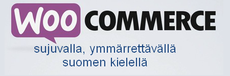 WooCommerce logo, suomeksi